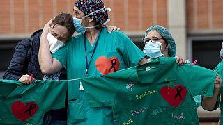 Sağlık çalışanları protestosu
