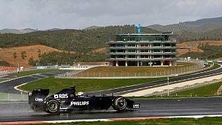 Um monolugar F1 da Williams em testes no Circuito Internacional do Algarve