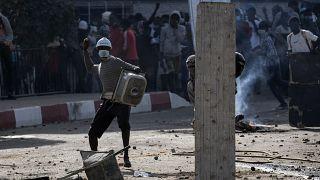 Affrontements entre manifestants et policiers à Dakar, au Sénégal, le 4 mars 2021