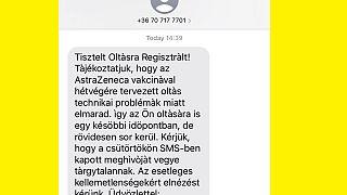 Az oltásokat lemondó sms