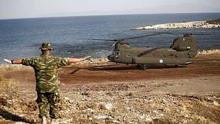 A Greek Army helicopter
