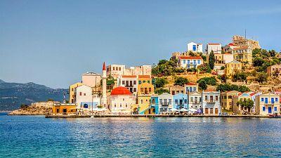 Kastellorizo island in the Aegean Sea