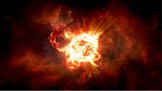 تصویر بازسازی شده از انفجار در ستاره قرمز غولپیکر