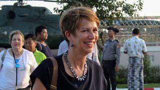 المبعوثة الخاصة للأمين العام للأمم المتحدة إلى ميانمار كريستين شرانر بورغنر
