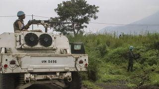 22 febbraio 2001: forze di pace ONU pattugliano l'area dell'imboscata a Luca Attanasio
