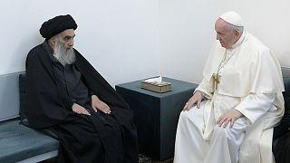 دیدار پاپ فرانسیس و آیت الله سیستانی در شهر نجف