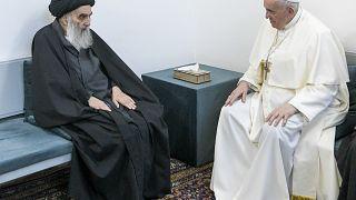 Папа римского Франциск и аятолла Али аль-Систани