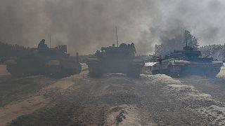 تدريبات عسكرية للقوات الأوكرانية في منطقة شرنيغيف شمال البلاد. 2018/12/19