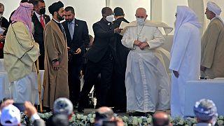 استقبال البابا في مدينة أور جنوبي العراق في محافظة قار. 2021/03/06