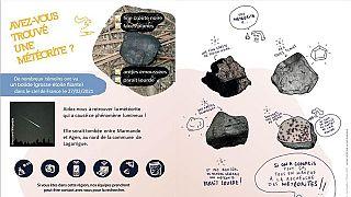 Fransa'da Vigie-Ciel projesi kameraları, bir meteorun cumartesi gecesi saat 22: 43'te Bordeaux'ya yaklaşık 100 kilometre uzaklıkta Dünya'ya giriş yaptığını tespit etti.