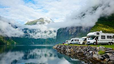 The Norwegian Fjords has plenty of spots for cars and campervans to explore