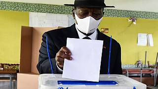Ivorian President and opposition leader cast their votes for the parliamentary elections