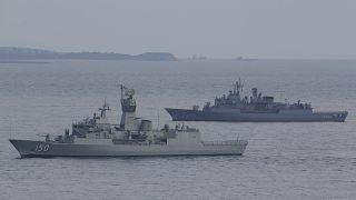 سفن حربية تابعة للبحرية التركية