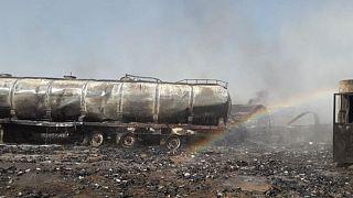 آتشسوزی در مخازن سوخت در گذرگاهی مرزی ایران و افغانستان