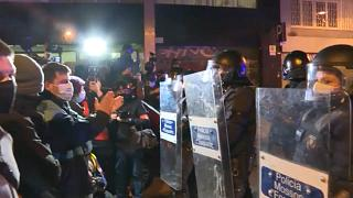 Újra utcára vonultak a katalán rapperért