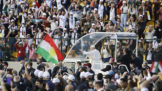 پاپ فرانسیس در استادیوم شهر اربیل