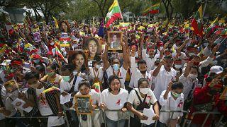 Die Diaspora demonstrierte in Bangkok