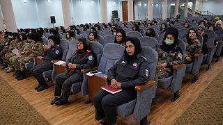 Afghan women police officers