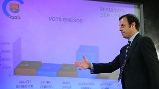 رئيس نادي برشلونة ساندو روسل 'ثر فوزه بانتخابات رئاسة النادي في 2010/06/14
