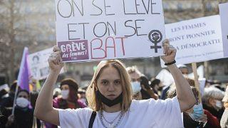 Manifestation à Paris, le 07 mars 2021