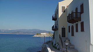 Covid-mentes egy görög sziget