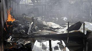 Yemen'de göçmenlerin tutulduğu gözaltı merkezinde yangın: 8 ölü, 170 yaralı
