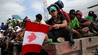 مهاجرون في طريقهم إلى كندا