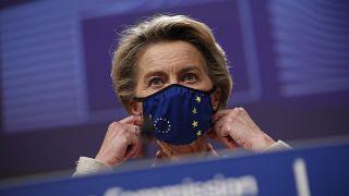 European Commission President Ursula von der Leyen in Brussels on Dec. 24, 2020.