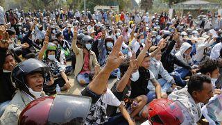 Myanmar'daki gösteriler