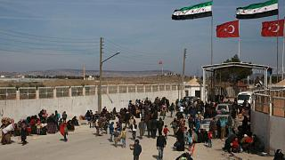 معبر باب السلامة على الحدود بين سوريا وتركيا.