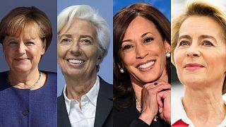 Merkel, Lagarde, Harris, von der Leyen
