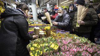 Цветочный рынок в Москве