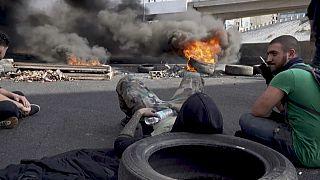 Des routes bloquées au Liban