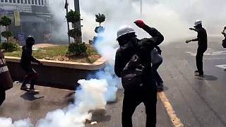 Tear gas in Dawei