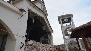 Κατεστραμμένη εκκλησία στο χωριό Κουτσόχερο Λάρισας