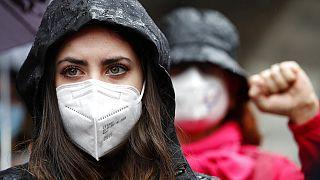 Protest am Internationalen Frauentag in Italien