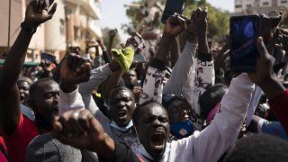 Manifestation à Dakar, le 08 mars 2021.