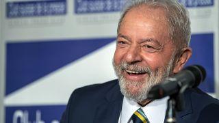 L'ex-président brésilien Luis Inacio Lula da Silva, à Genève, le 6 mars 2020