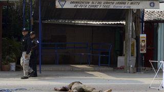 Un meurtre commis par un gang à Xaltianguis près d'Acapulco - Etat mexicain de Guerrero -, le 7 mai 2019