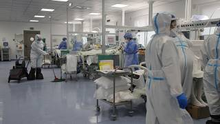 Virus Outbreak Greece ICU