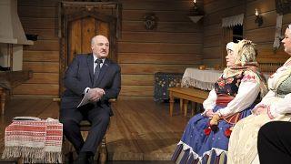Александр Лукашенко встречается с труппой Академического театра им.Янки Купалы в Минске, февраль 2021 г.