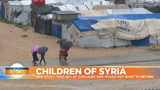 People in UN refugee camp in Syria