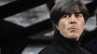 Germany's national football team head coach Joachim Löw before the start of the UEFA Euro 2020 Group C qualification match between Germany and Belarus, November 16, 2019.