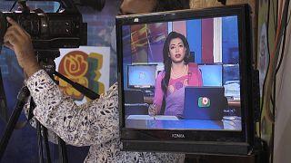 Bangladeş'in ilk trans haber sunucusu Tashnuva Anan Shishir