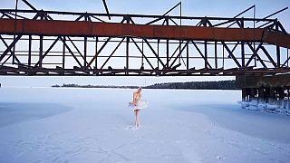 Балерина Мариинского театра Ильмира Багаутдинова - Финский залив