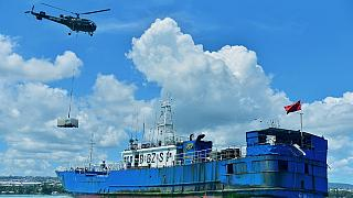 Mauritius: Grounded Chinese flagged fishing vessel response