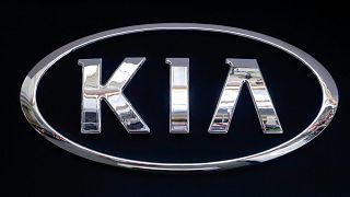 يتم عرض شعار KIA على لافتة في معرض بيتسبرغ الدولي للسيارات 2019 في بيتسبرغ، ولاية بنسيلفانيا، الولايات المتحدة، 14 فبراير 2019