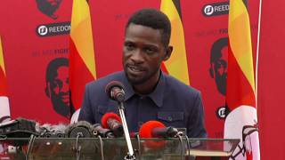Ugandan opposition leader Bobi Wine calls for release of political prisoners