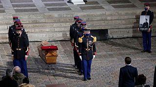 مراسم بزرگداشت و تشییع پیکر ساموئل پاتی، معلم فرانسوی سربریده شده توسط یک اسلامگرای افراطی