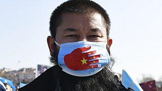 Türkiye'de Uygurların Çin protestosu